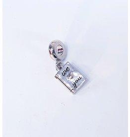 50313489 - Silver Book Charm