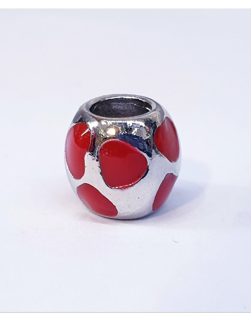 50313506 - Silver and Red Heart Charm