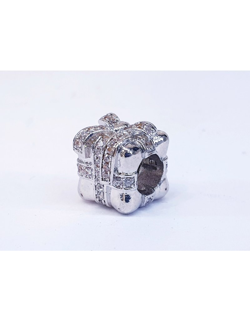 50313514 - Silver Gift Box Charm