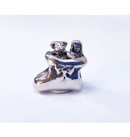 50313515 - Silver Boot With Bow Charm