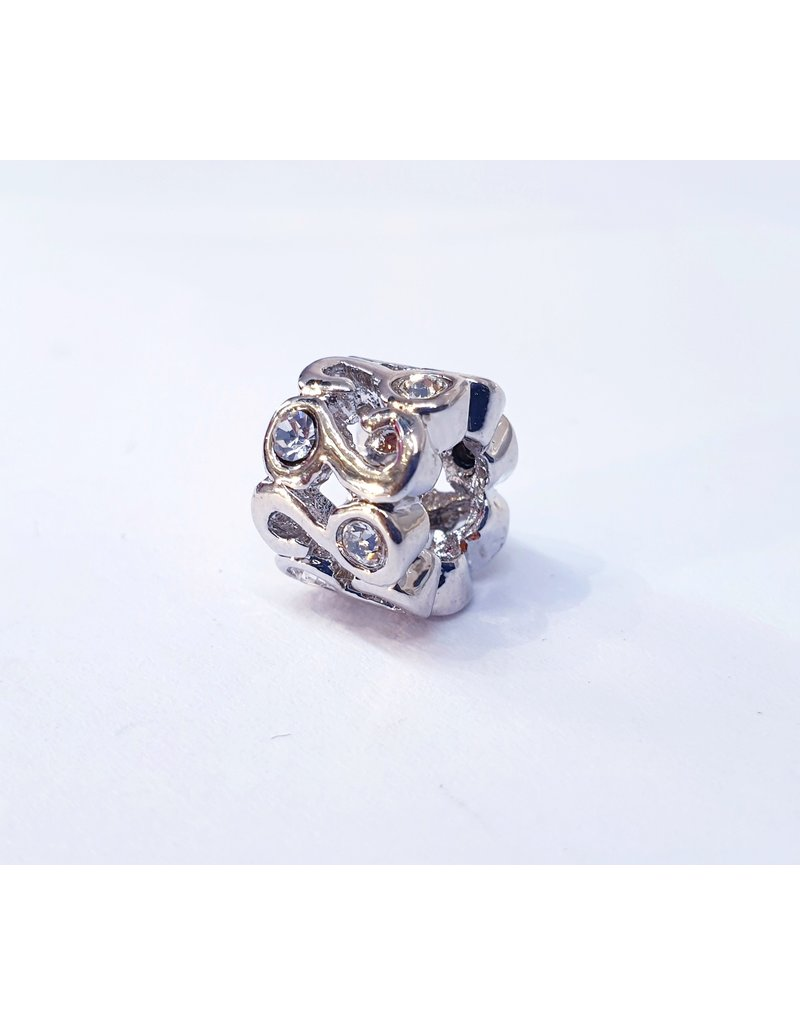50311817 - Silver Circle with Silver Stone Charm