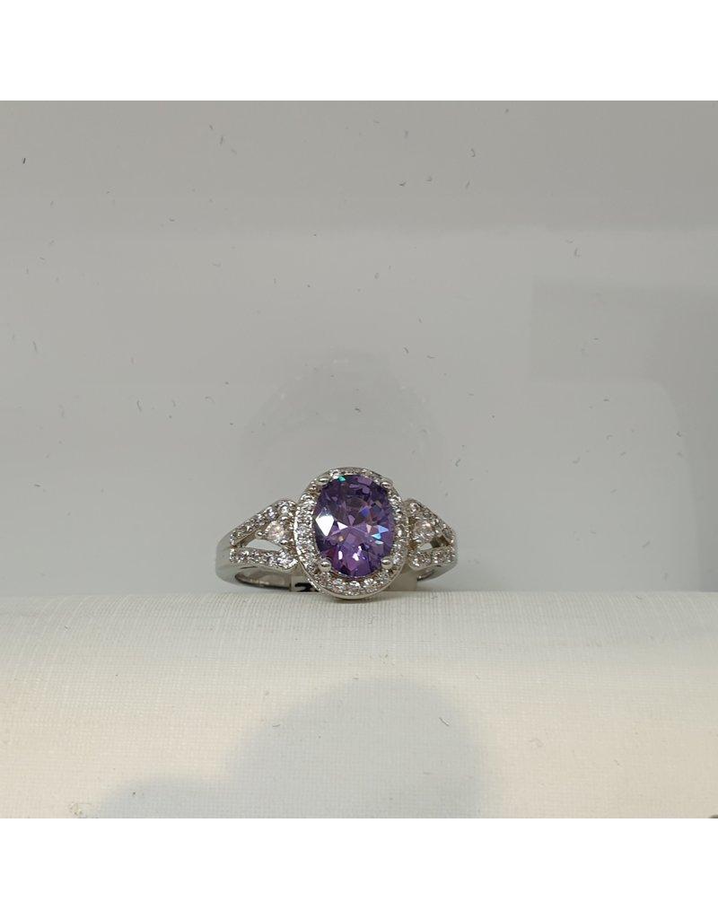 RGC180127 - Purple, Silver Ring