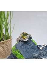 RGC180134 - Olive Green, Silver Ring
