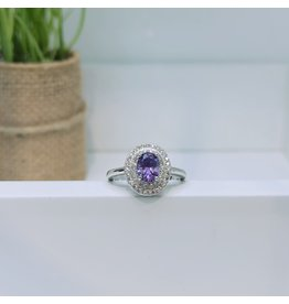 RGC180105 - Purple, Silver Ring