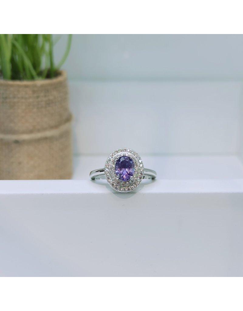 RGC180105 - Purple, Silver Ring