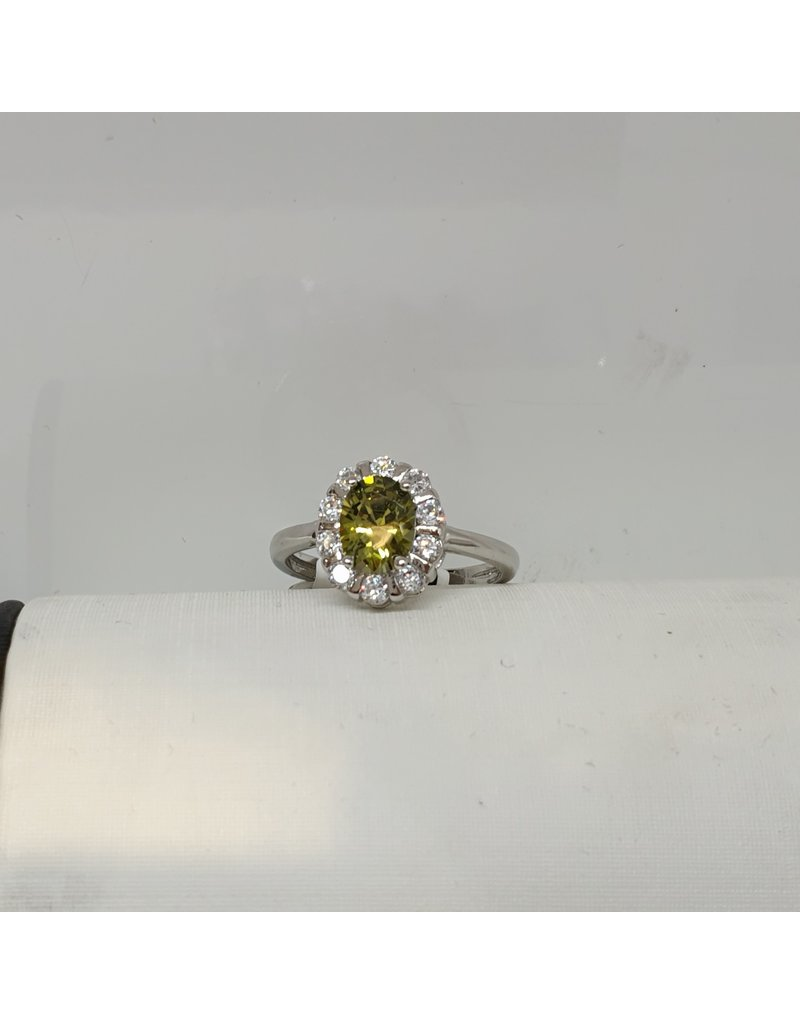 RGC180117 - Olive Green, Silver Ring