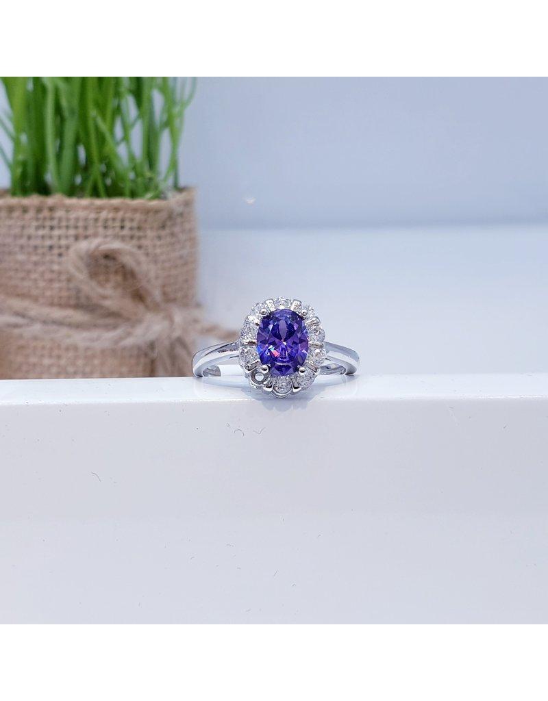 RGC180118 - Purple, Silver Ring