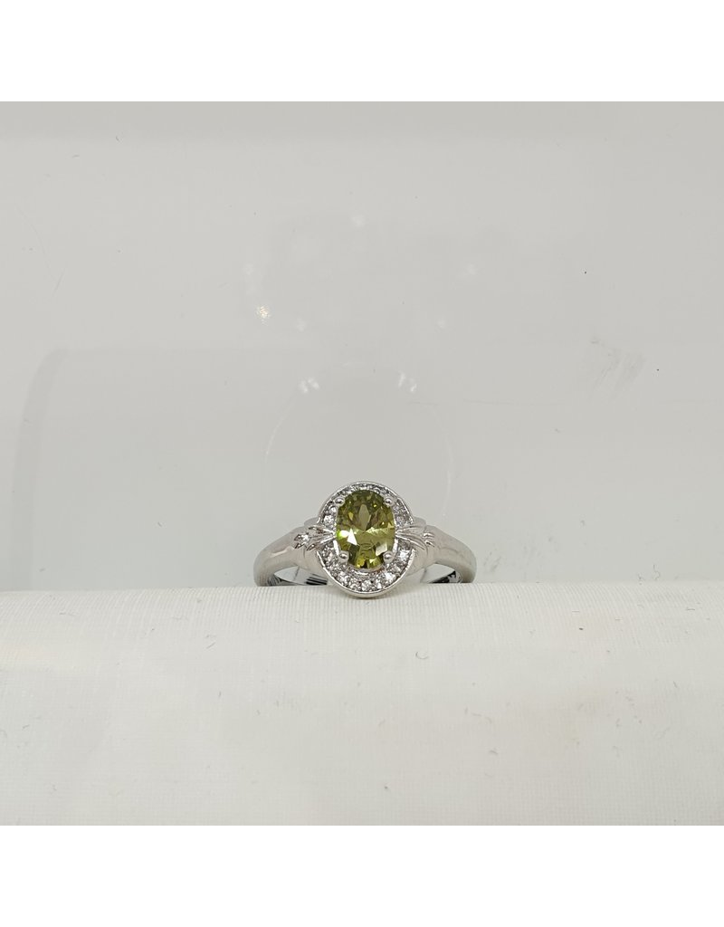 RGC180121 - Olive Green, Silver Ring