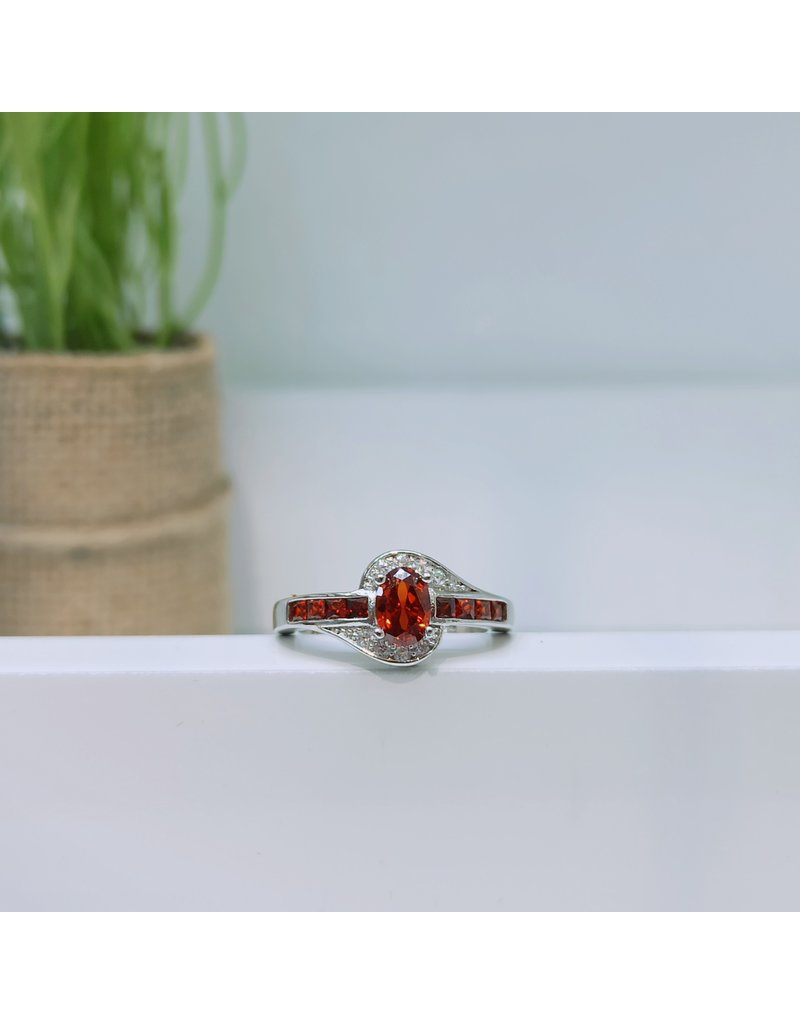 RGC180130 - Red, Silver Ring