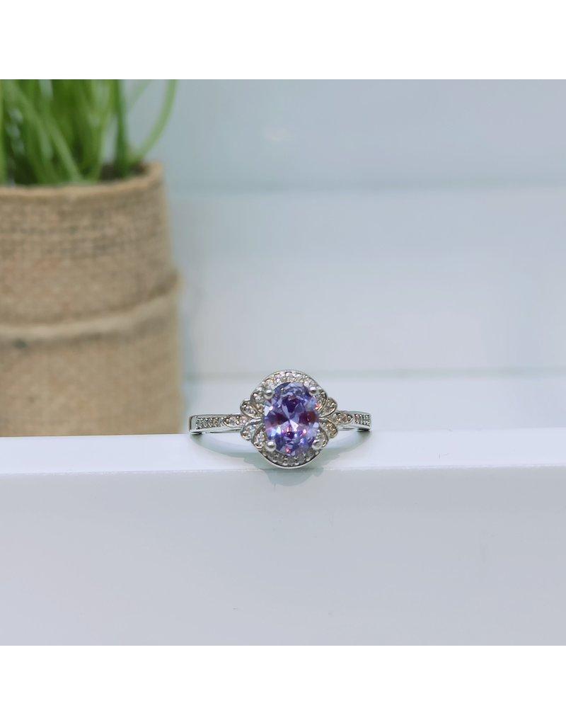 RGC180141 - Purple, Silver Ring