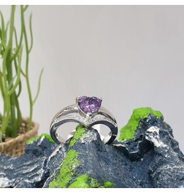 RGC180147 - Purple, Silver Ring