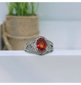 RGC180153 - Red, Silver Ring