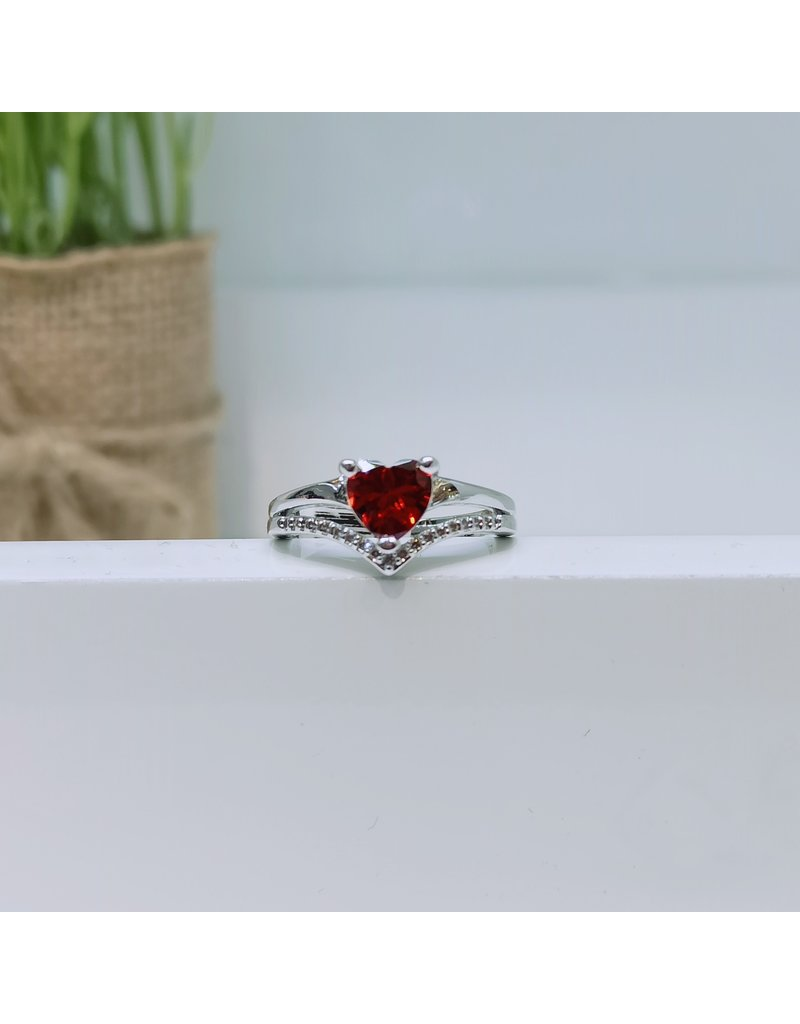RGC180150 - Red, Silver Ring