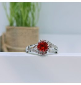 RGC180155 - Red, Silver Ring
