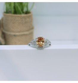 RGC180166 - Orange, Silver Ring
