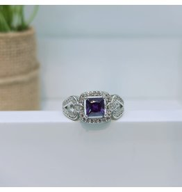 RGC180177 - Purple, Silver Ring