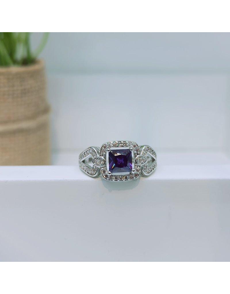 RGC180177 - Purple, Silver Ring
