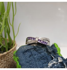 RGC180186 - Purple, Silver Ring