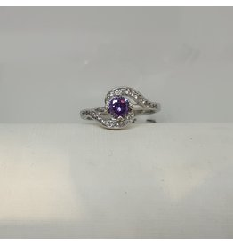 RGC180190 - Purple, Silver Ring