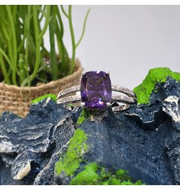 RGC180191 - Purple, Silver Ring