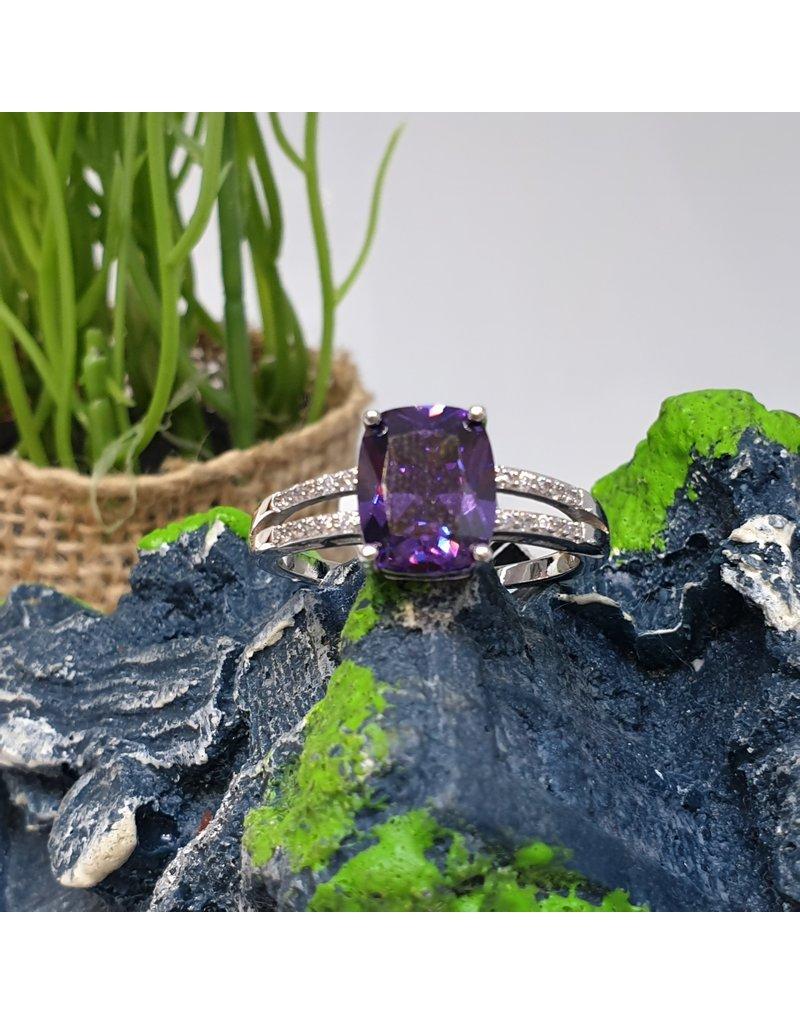 RGC180191 - Purple, Silver Ring