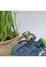 RGC190148 - Olive Green, Silver Ring