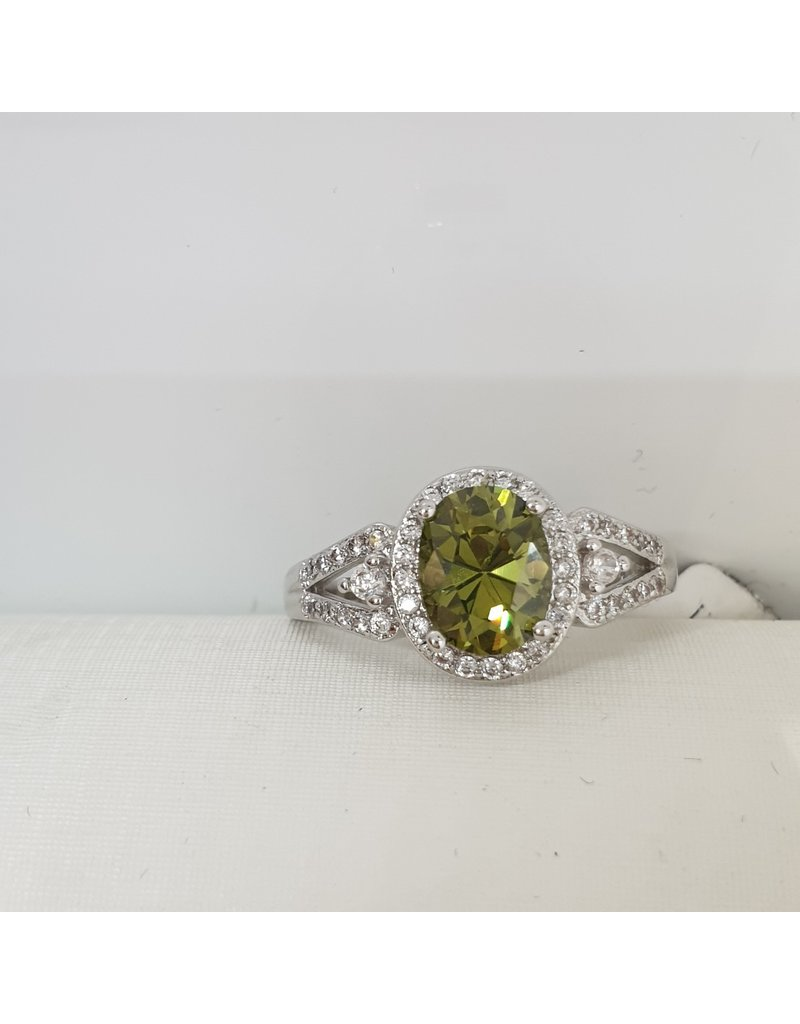 RGC190125 - Olive Green, Silver Ring