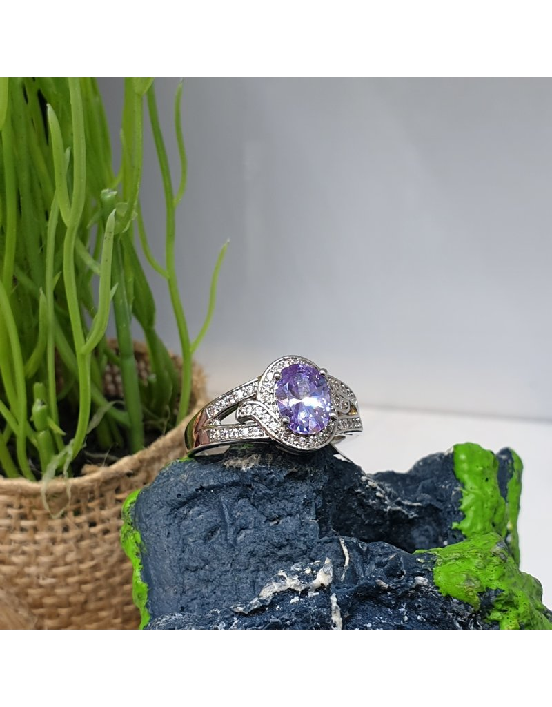 RGC190127 - Purple, Silver Ring