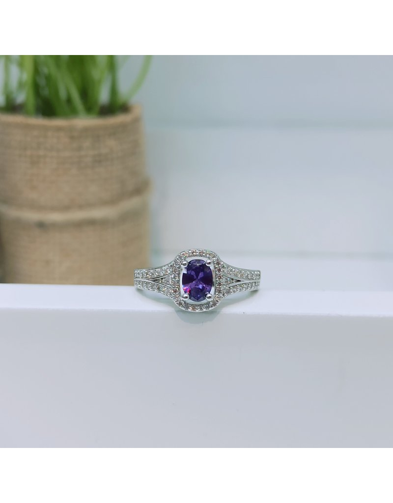 RGC190129 - Purple, Silver Ring