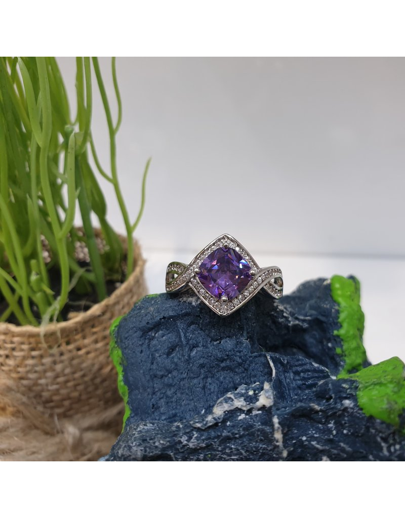 RGC190135 - Purple, Silver Ring