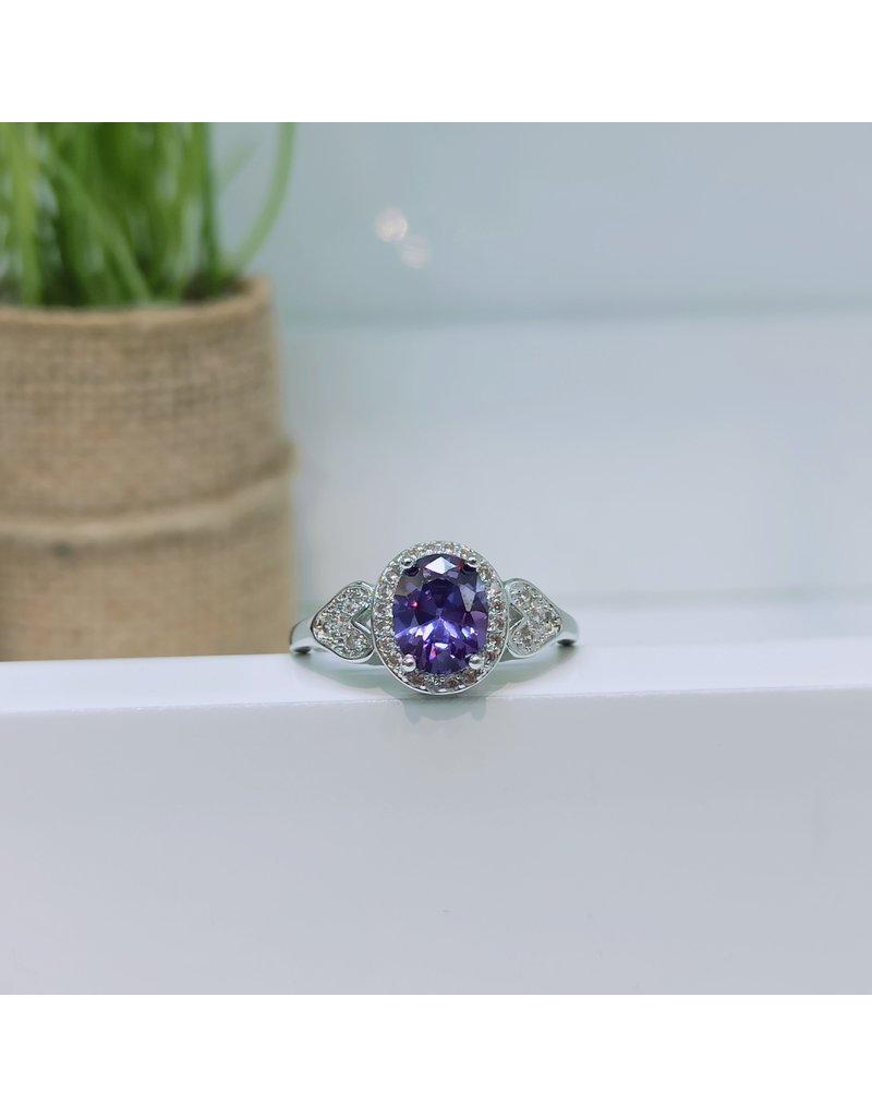 RGC190168 - Purple, Silver Ring