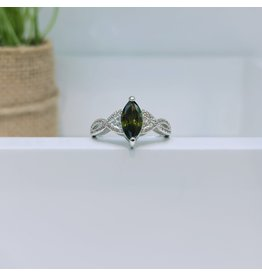 RGC190170 - Olive Green, Silver Ring