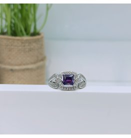 RGC190177 - Purple, Silver Ring