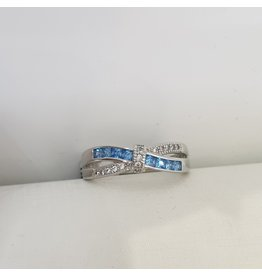 RGC190185 - Blue, Silver Ring