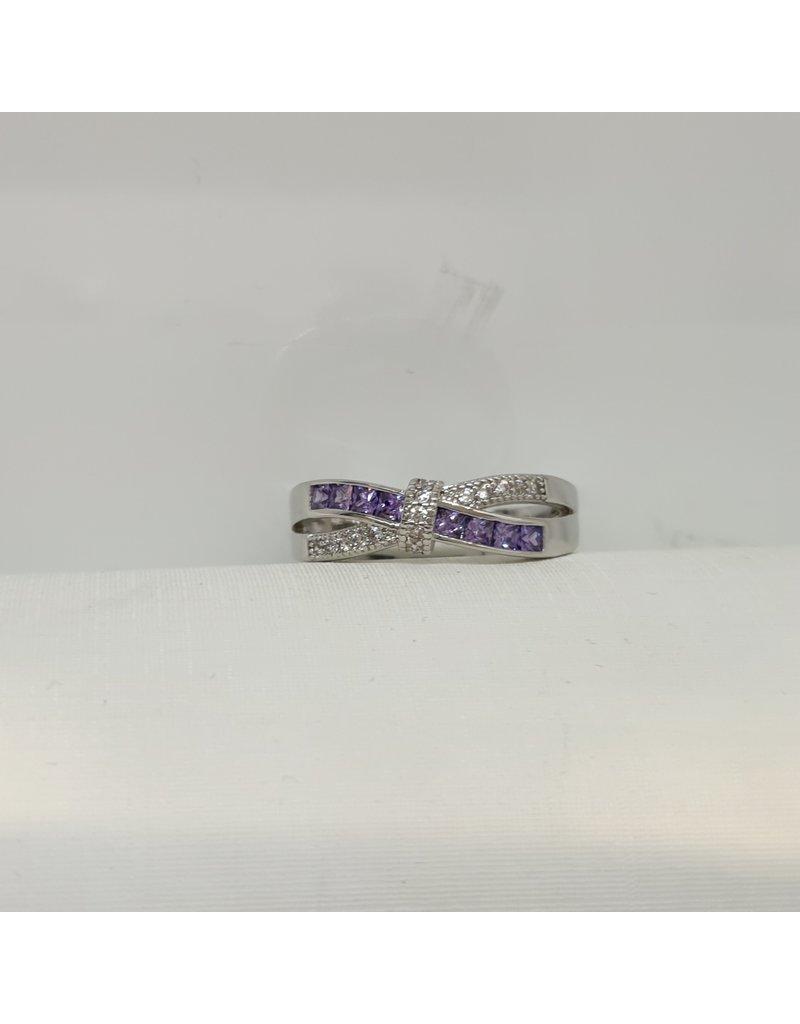 RGC190186 - Purple, Silver Ring