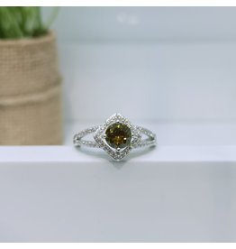 RGC900160 - Olive Green, Silver Ring