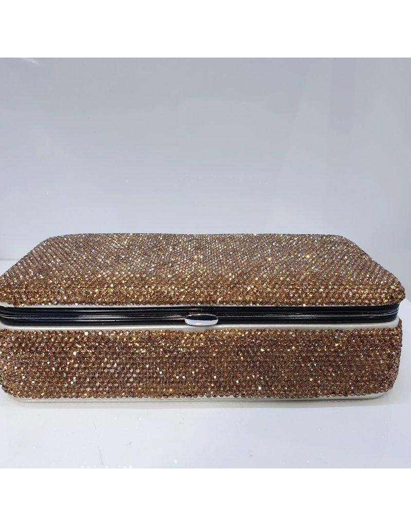 HRG0038 - Rose Gold Full Stone Rectangular Jewellery Box