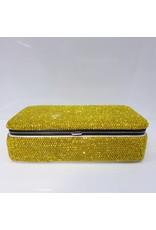 HRG0041 - Yellow Full Stone Rectangular Jewellery Box