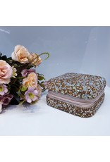HRG0129 - Rose Gold Square Full Stone Jewellery Box