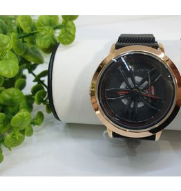 WTB0007- Rose Gold, Red, Spinner Black Watch