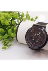 WTB0008- Spinner Black, Red Watch