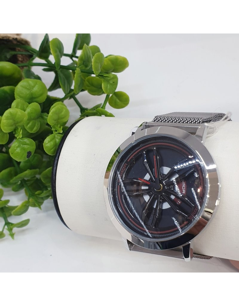 WTB0010- Spinner Silver Watch