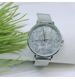 WTB0011- Silver Marble Watch