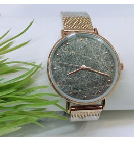 WTB0012- Rose Gold Marble Watch