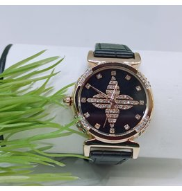 WTB0013- Black Rose Gold Watch