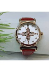 WTB0017- Red Rose Gold Watch