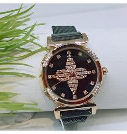 WTB0019- Black Rose Gold Watch