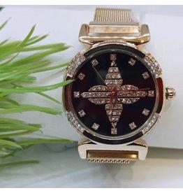 WTB0020- Rose Gold Black Watch