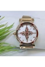 WTB0021- Rose Gold Multicolour Watch