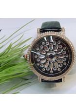 WTB0033- Black Rose Gold Watch